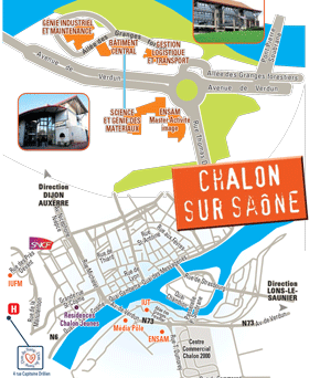 Plan campus chalon