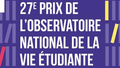 Lancement du 27e prix de l'Observatoire national de la vie étudiante