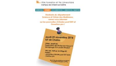 Campus de Chalon : session sur l'après-DUT