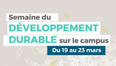 Développement durable sur le campus : à vous de jouer !