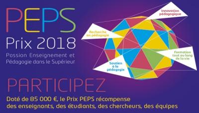 Prix PEPS 2018 : étudiant/e.s, proposez des actions pédagogiques innovantes !