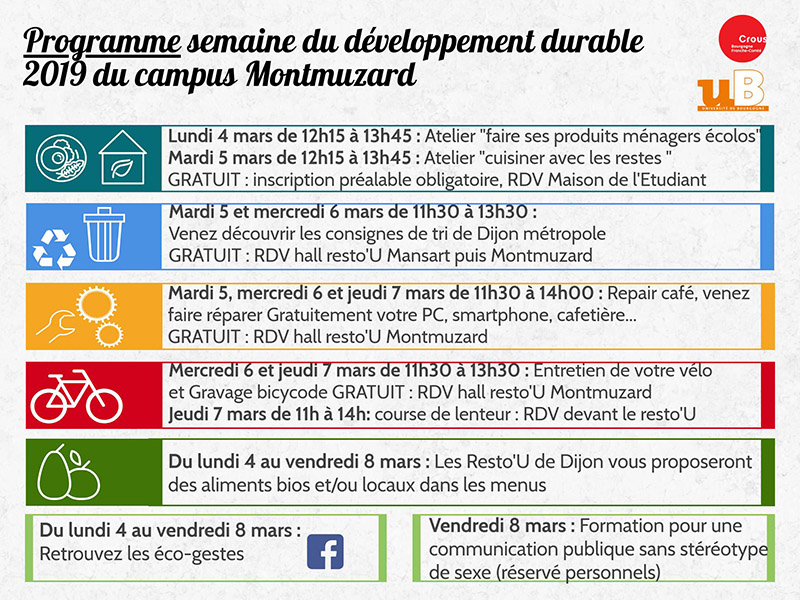 semaine developpement durable mars 2019 programme