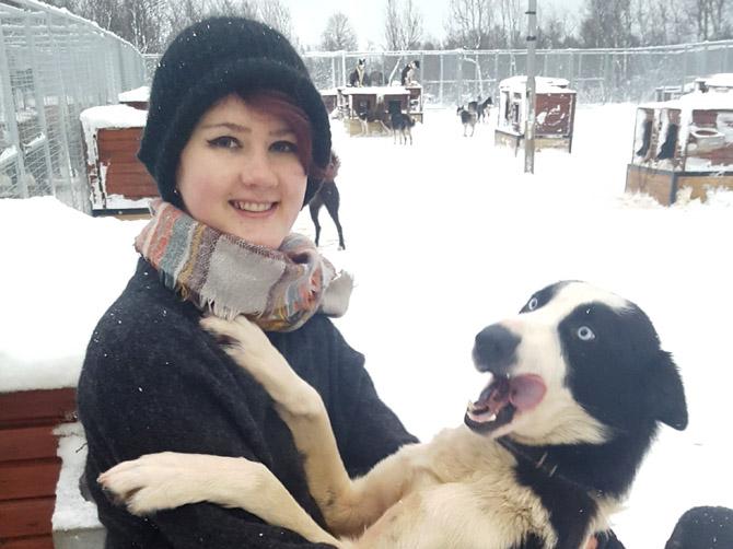Promenade en chiens de traîneaux, Tromsø.