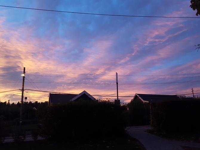 Les couchers de soleil.
