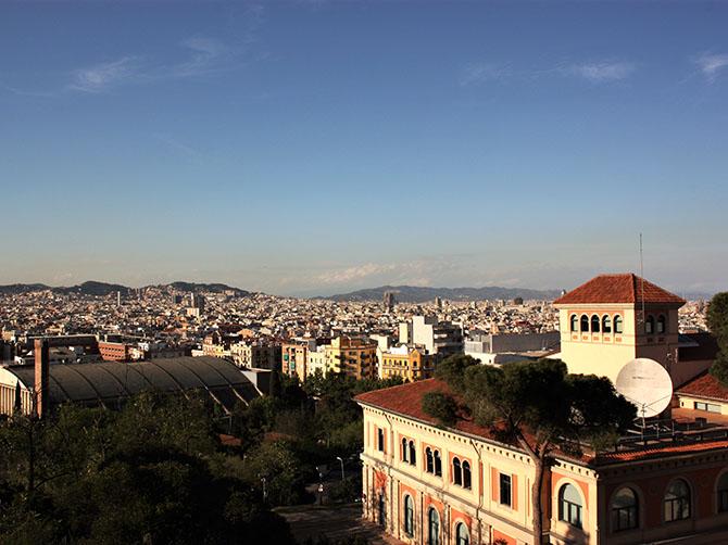 Barcelone – vue depuis le haut des anciennes arènes
