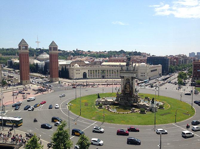 Barcelone – place d'Espagne.