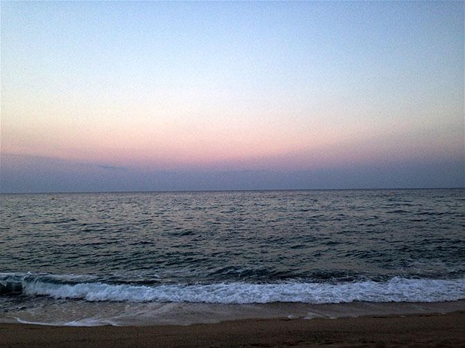 La plage de Mataro.