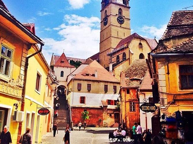 Ma ville en Roumanie.