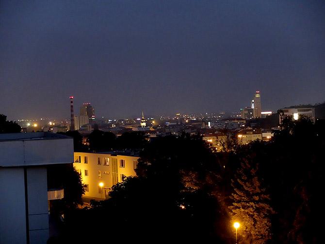Vue depuis la résidence universitaire Vinarska.